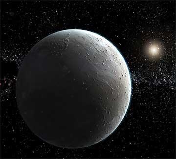 Possible représentation de l'hypothétique planète de la taille de la Terre.